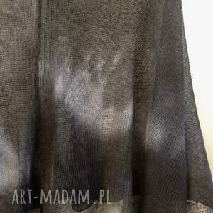 bluzka eleganckie grafitowe lniane ręcznie