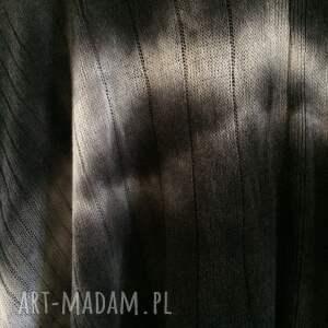 sweter poncho grafitowe cieniowane wełniane