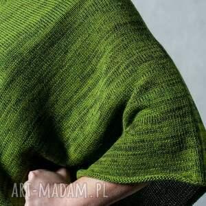 poncho ponczo zielone - melanż