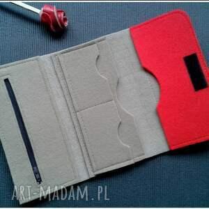 beżowe portfele portfel bezowy z makami
