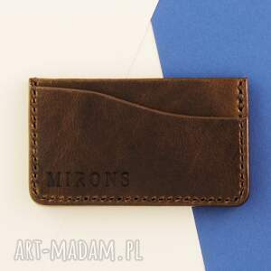 eleganckie portfele portfel card holder brązowy