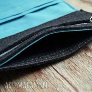 portfele zakupy duży filcowy portfel
