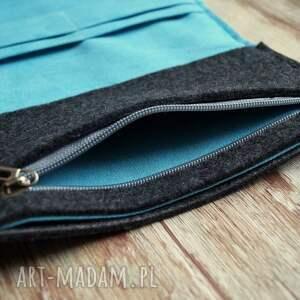 handmade portfele zakupy duży filcowy portfel