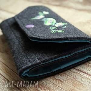 zakupy portfele duży filcowy portfel