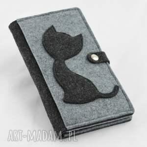 portmonetka portfele duży portfel z kotem -maxi