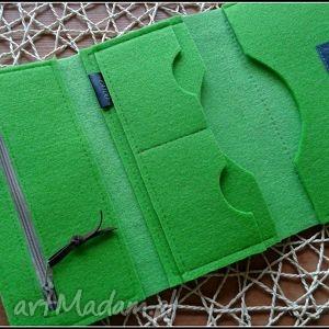 niebieskie portfele prezent duzy portfel z sowa
