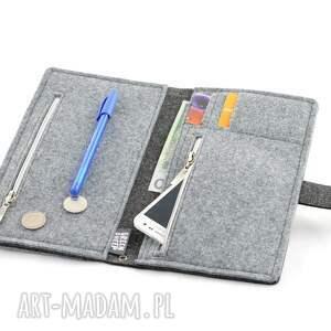 kolorowe portfele saszetka duży portfel/saszetka filcowy