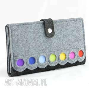 unikatowe portfele kopertówka duży portfel/saszetka filcowy