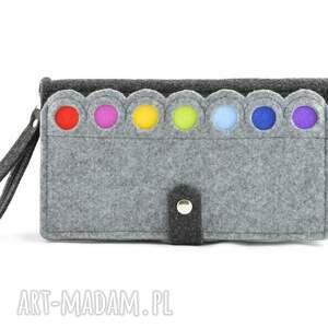 unikatowe portfele saszetka duży portfel/saszetka filcowy