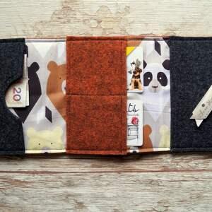 portfele misie filcowy portfelik z liskiem