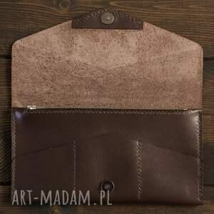 unikalne portfele portfel kopertówka czekoladowa