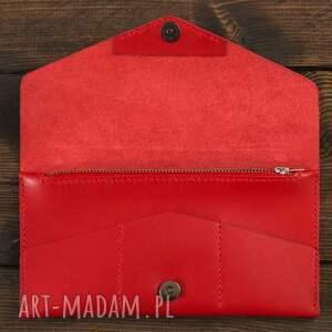 modne portfele portfel kopertówka czerwona