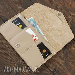 portfelik portfele kopertówka kremowa