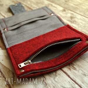 portfel portfele mały filcowy
