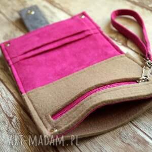 nietypowe portfele filcowa mały filcowy portfel