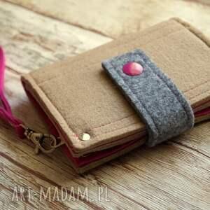 nietypowe portfele portfel mały filcowy