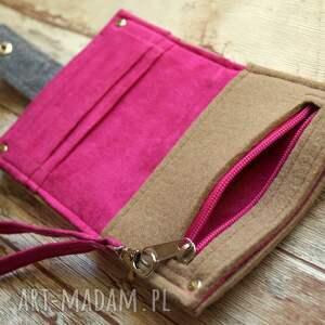 portfele filcowa mały filcowy portfel