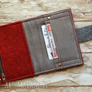 portfele prezent mały filcowy portfel