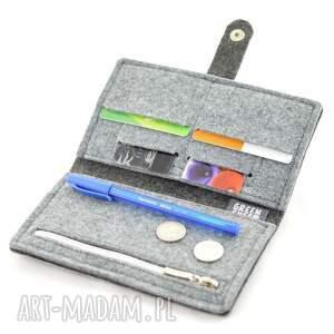 modne portfele portfel minimalistyczny - filc