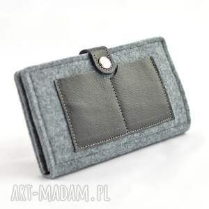 męski portfele minimalistyczny portfel - filc