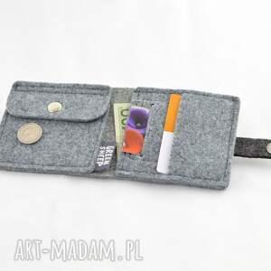 skórzany portfele minimalistyczny portfel - mini