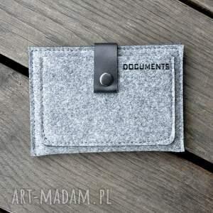 portfele portfel filcowy - szary