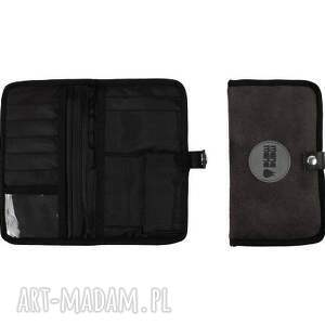 portfele czarny portfel mana #5