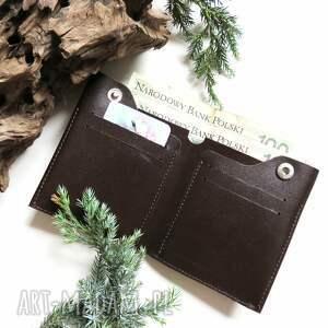 portfele mężczyzna portfel męski brązowy