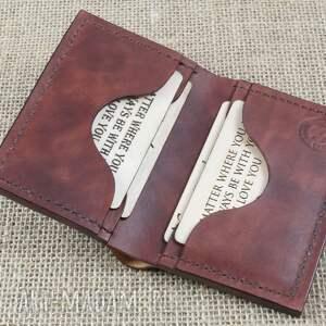 portfel portfele czarne na karty z miejscem