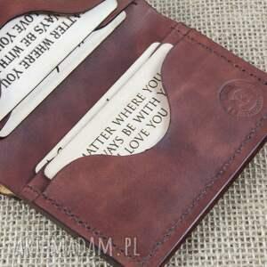 hand made portfele grawer portfel na karty z miejscem