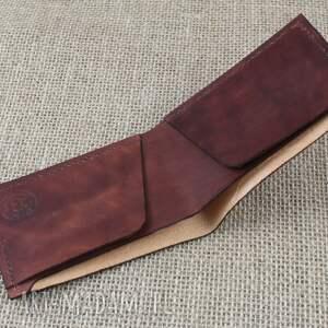 brązowe portfele prezent portfel na karty