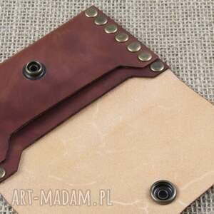portfele skóra portfel nitowany