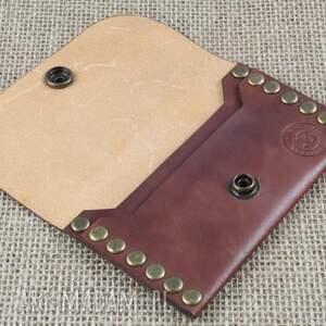 skóra portfele portfel skórzany wykonany z roślinie garbowanej
