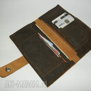 portfele skóra portfel - naturalna