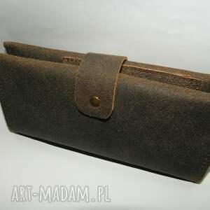 skórzany portfele portfel - skóra naturalna