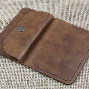 brązowe portfele portfel skórzany z kieszonką