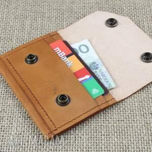brązowe portfele portfel skórzany na karty