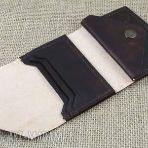 brązowe portfel skórzany