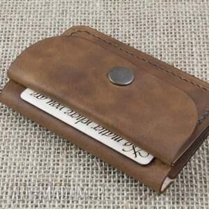 portfele karty portfel skórzany z kieszonką
