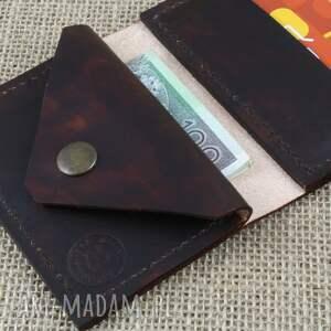 awangardowe portfele karta portfel skórzany