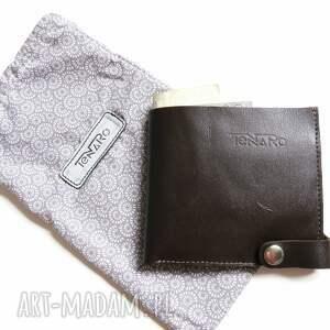 portfele kobieta portfel skórzany z zatrzaskiem