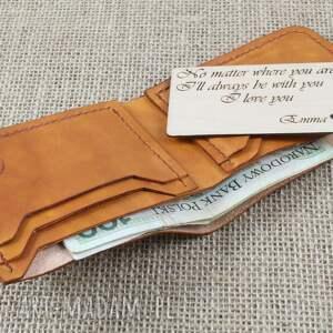 hand made portfele męski portfel skórzany klasyczny