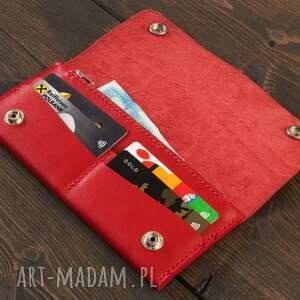 skóra portfele portfel skórzany czerwony