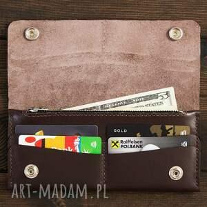 szare portfele portfelik portfel skórzany czekoladowy