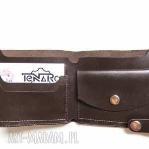 wyraziste portfele rękodzieło portfel skórzany z zatrzaskiem