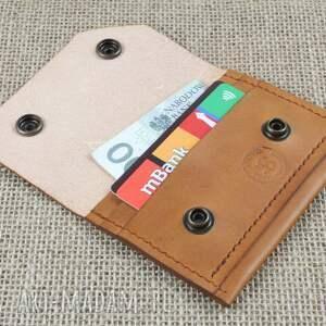 portfel portfele czerwone skórzany na karty