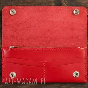 portfele skóra portfel skórzany czerwony