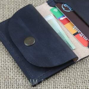 modne torba portfel skórzany z kieszonką