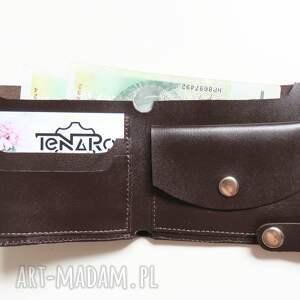 kobieta portfele portfel skórzany z zatrzaskiem