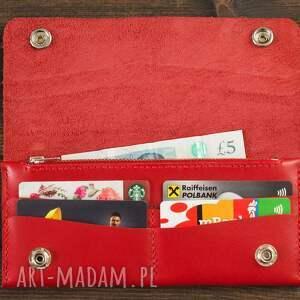 unikatowe portfele portfel skórzany czerwony